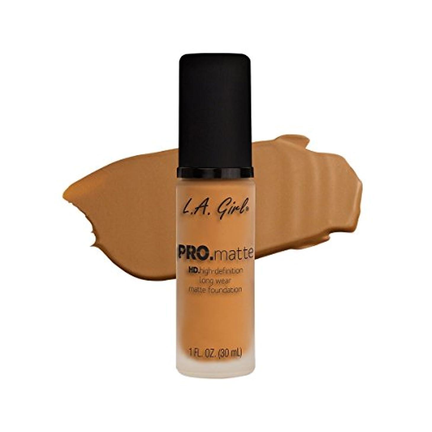 非武装化アクセスできない感動する(3 Pack) L.A. GIRL Pro Matte Foundation - Golden Bronze (並行輸入品)