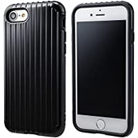 """GRAMAS COLORS """"Rib"""" Hybrid case CHC436 for iPhone 8/7 グラマスカラーズ リブ ハイブリッドケース 耐衝撃ケース ICカード対応(ブラック)"""