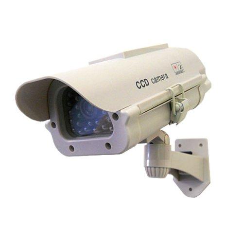 高性能 ダミーカメラ 充電式 ソーラーパネル搭載で電池交換不要 リチウム電池付属 防犯カメラ 監視カメラ
