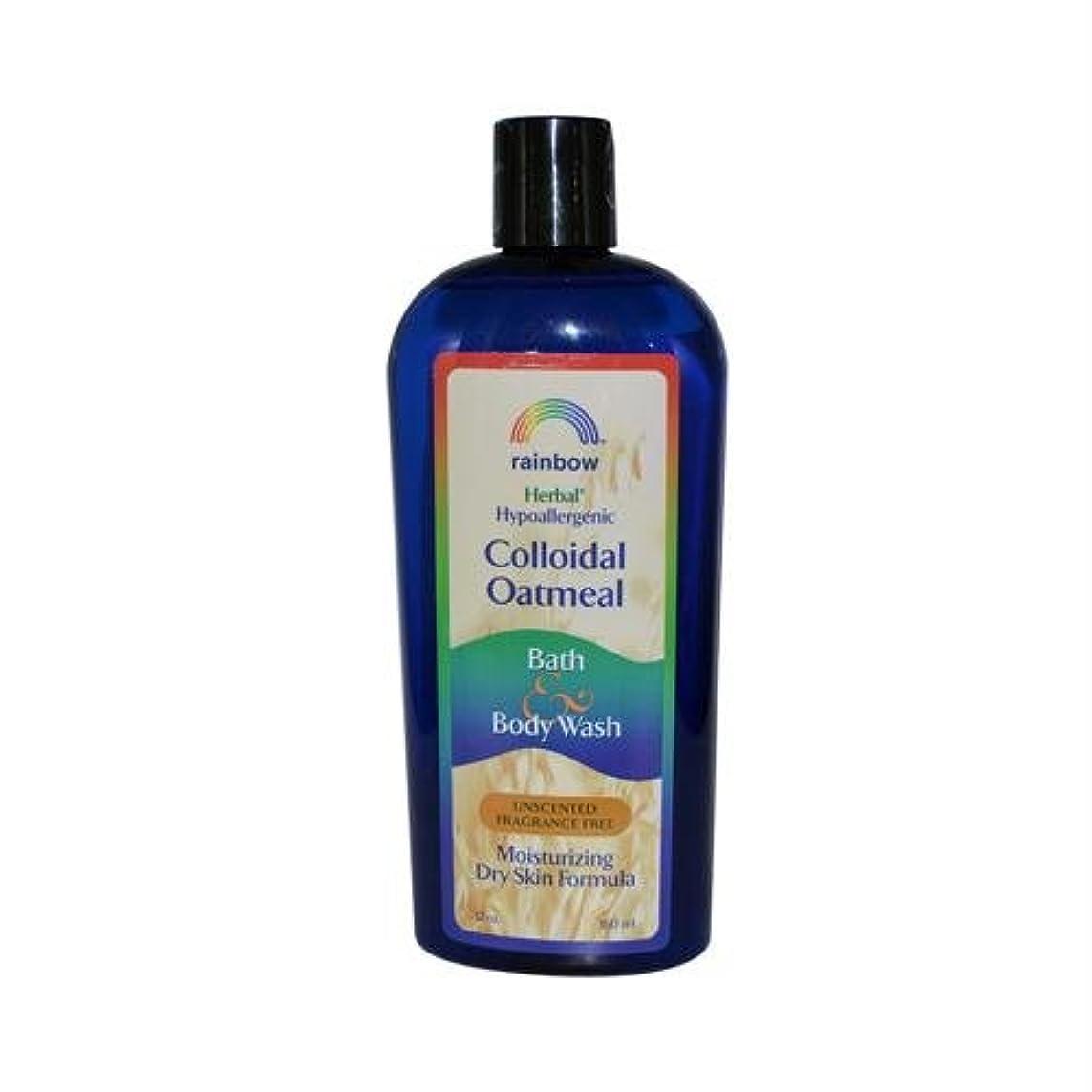 ハンドブック勝者あざRainbow Research, Colloidal Oatmeal Bath & Body Wash, Unscented Fragrance Free, 12 oz (360 ml)