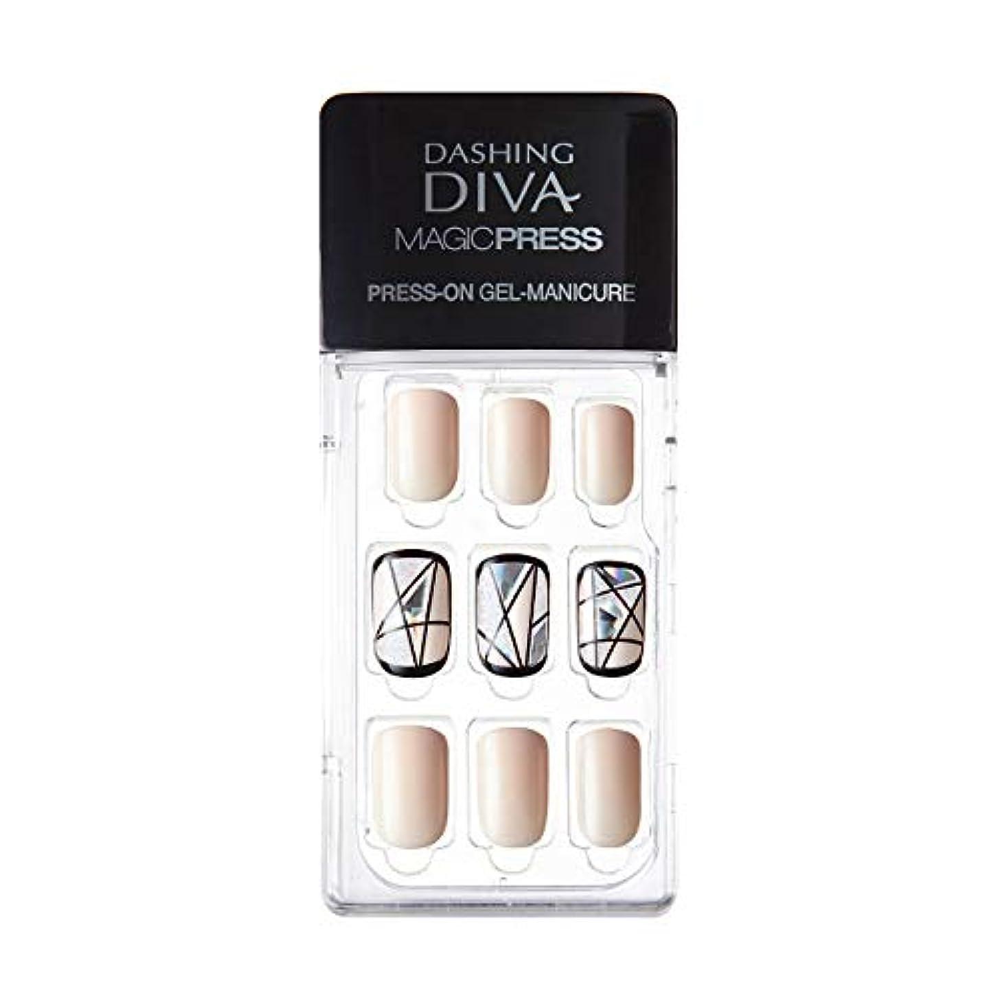 病弱能力蒸留ダッシングディバ マジックプレス DASHING DIVA MagicPress MDR081-DURY+ オリジナルジェル ネイルチップ