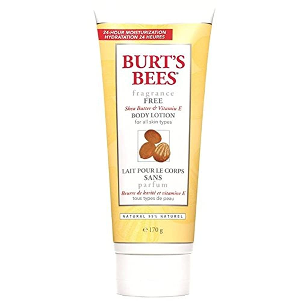 穏やかなスクラブ強打バーツビーの無香料ボディローション177ミリリットル x2 - Burt's Bees Fragrance Free Body Lotion 177ml (Pack of 2) [並行輸入品]