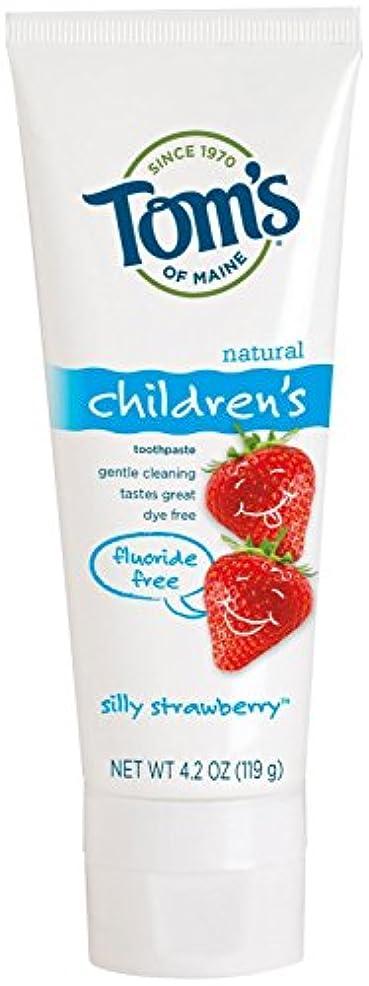 モットー光沢のある流すToms of Maine Toothpaste-Children's Fluoride Free-Strawberry - 4.2 Oz - Paste (並行輸入品)