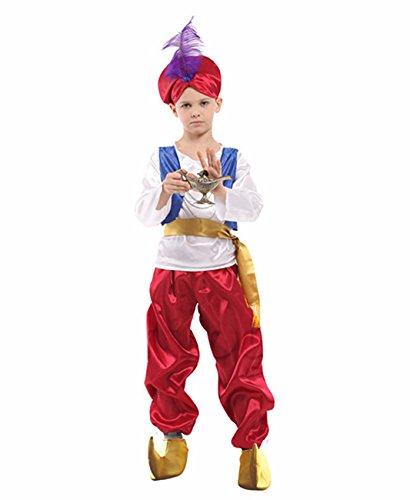 ハロウィン 仮装 衣装 アラジン 魔法のランプ コスプレ衣装 子供用 キッズ グッズ ヒーロー 英雄コスチューム パーティー服 Halloween衣装 (M(110-120CM))