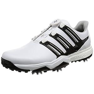 [アディダスゴルフ] ゴルフシューズ スパイク powerband Boa boost powerband Boa boost Q44768 ホワイト/コアブラック/シルバーメタリック 25.5 3E