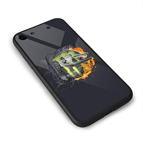 スピードメーターとモンスターエナジーのロゴ IPhone8 ケース IPhone7 ケース 背面ガラス+TPUバンパー 超薄超軽量 おしゃれ 指紋防止 一体型 人気 耐衝撃 すり傷防止 超耐久 スマホケース