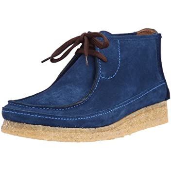 Leather Hi-Cut Wallaby Chipmunk: Blue Suede