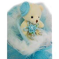 【 Alnair 】 ベアブーケ 可愛い 帽子 クマ束 ギフト プレゼント 出産祝い 入学祝い ぬいぐるみ付き