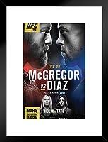 ピラミッドAmerica UFC 196Conor McGregor VS Nate Diazスポーツつや消しフレーム入りポスター12x 18インチインチ