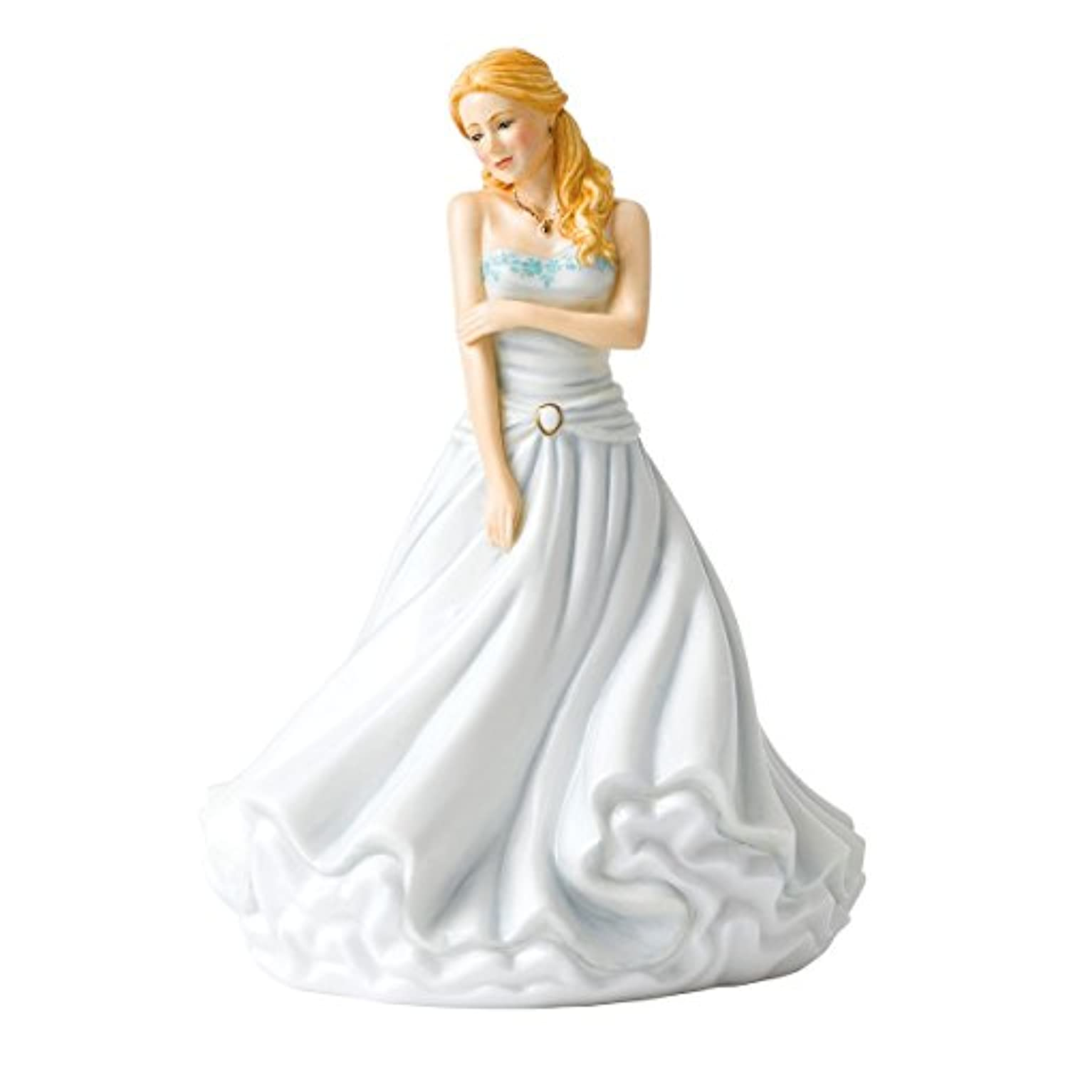 Royal Doulton 18cm HN 5878 Thoughts of You Figurine, White