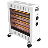 Heller 2400W 4 Power Settings White Radiant Heater- HWR2400