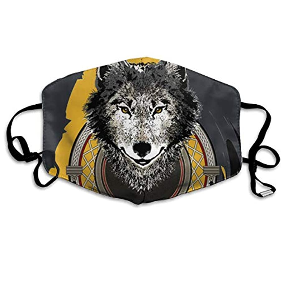 一の楽 マスク夏用 風邪 花粉症対策 繰り返し使用可能 洗える おしゃれ 男女兼用 インド 狼