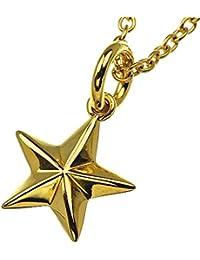 Binich(ビニッチ) シンプル スター ブラス ペンダント ゴールドカラー (ゴールドステンレスチェーン付き) 星 メンズ