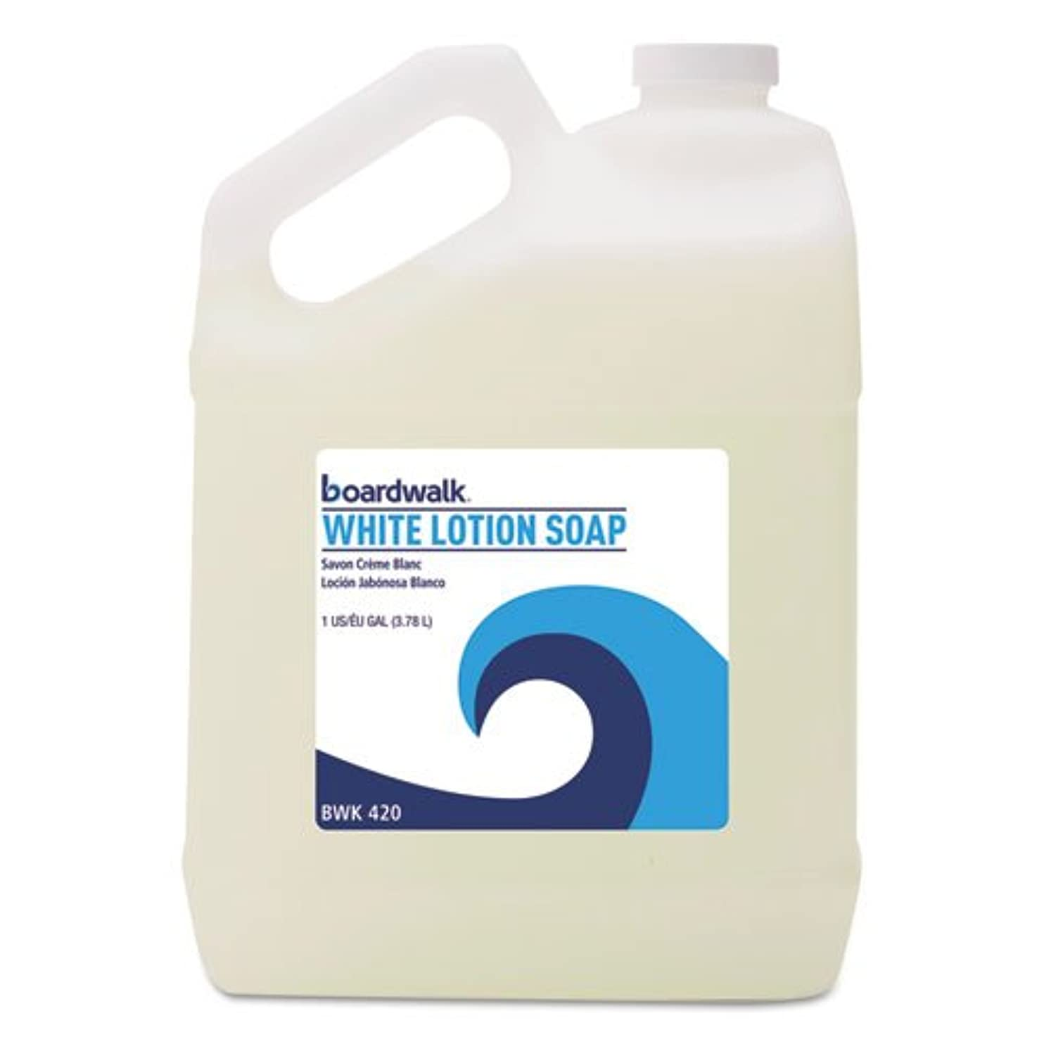 ラッカス作物間ボードウォーク420ea Mild Cleansing Lotion Soap , Pleasant香り、液体、1ガロンボトル