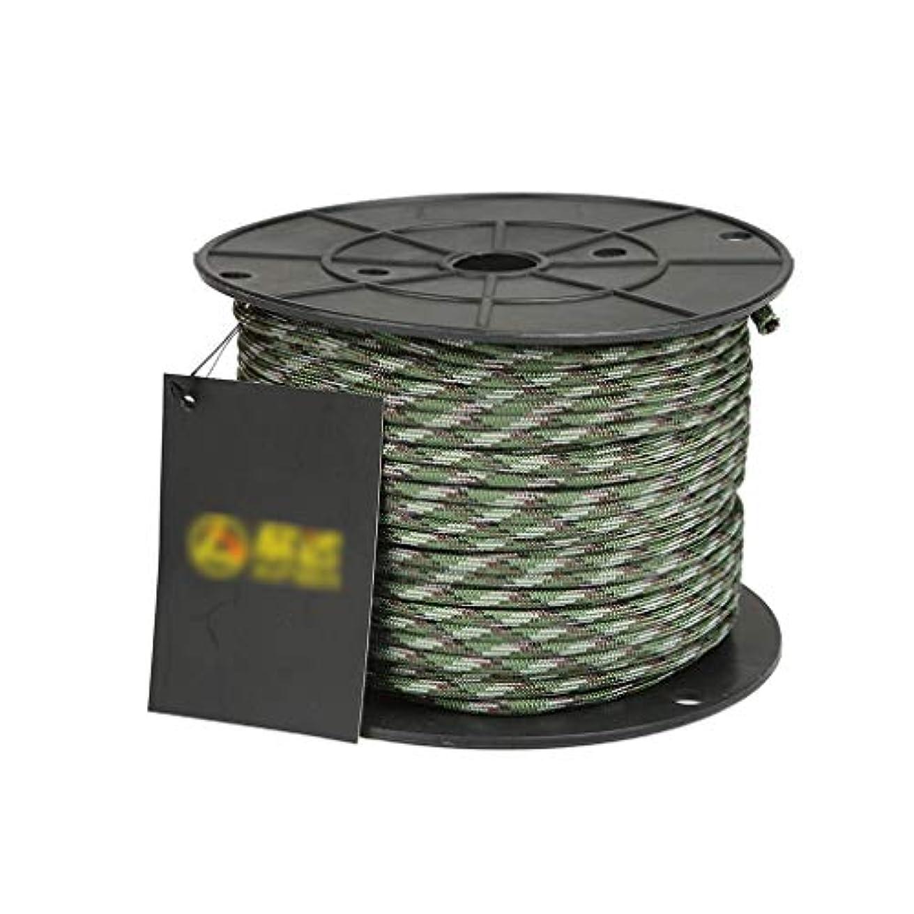 インデックス重力注意クライミングロープ 多色オプションの安全ロープ、長さ50mの高強度ポリエステルを使用した安全ロープ、直径4mm、容量292kgの安全ロープ (色 : 迷彩)