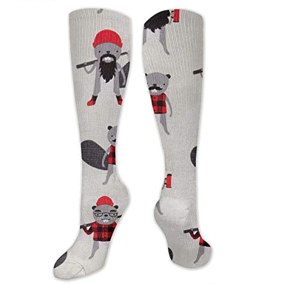 対抗まろやかなフロンティア靴下,ストッキング,野生のジョーカー,実際,秋の本質,冬必須,サマーウェア&RBXAA Burly Beavers Socks Women's Winter Cotton Long Tube Socks Knee High...