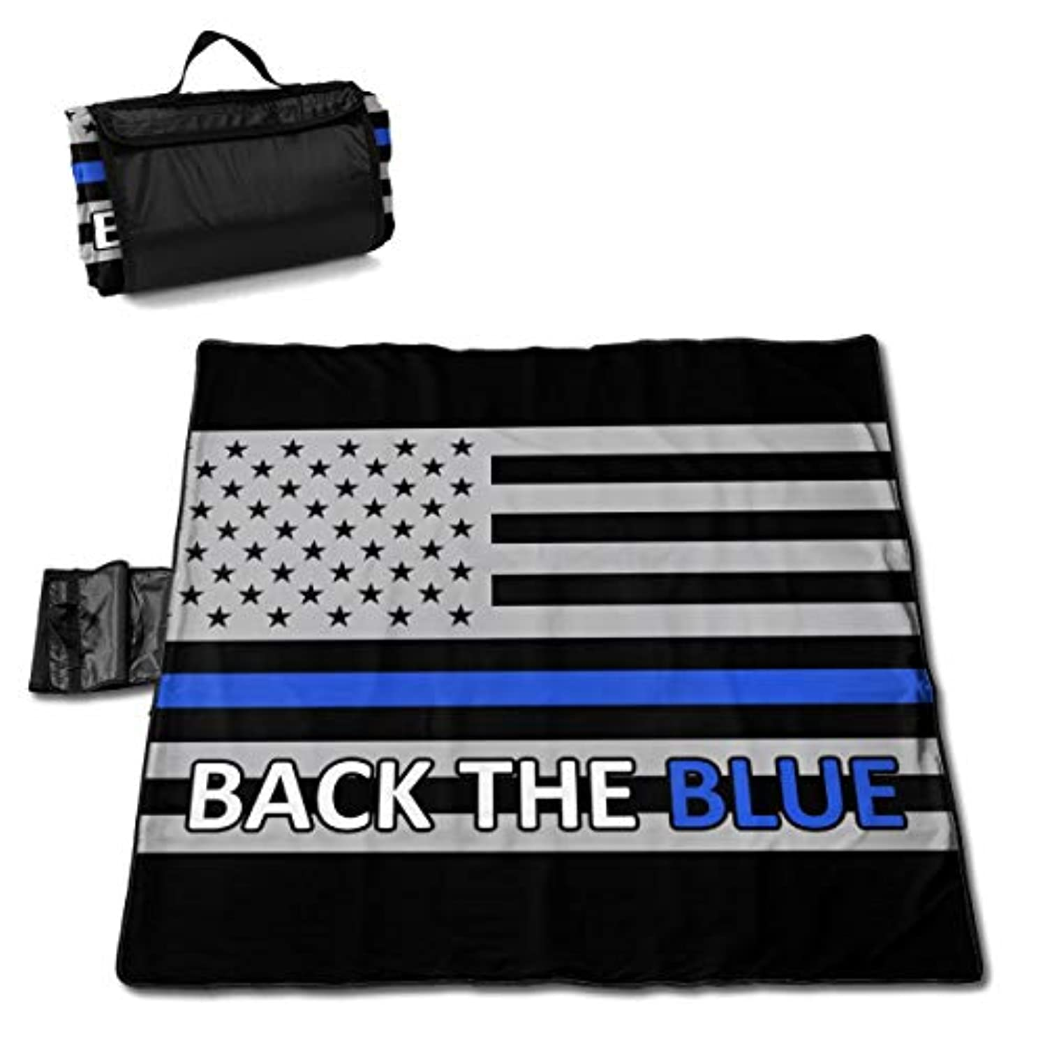 不安定気楽なぞっとするような青い警察ラインの旗 ピクニックマット レジャーシート ファミリー レジャーマット 防水 防潮 マット 折り畳み 持ち運び便利 四季適用び おしゃれ花火大会 運動会 遠足 キャンプ 145×150cm