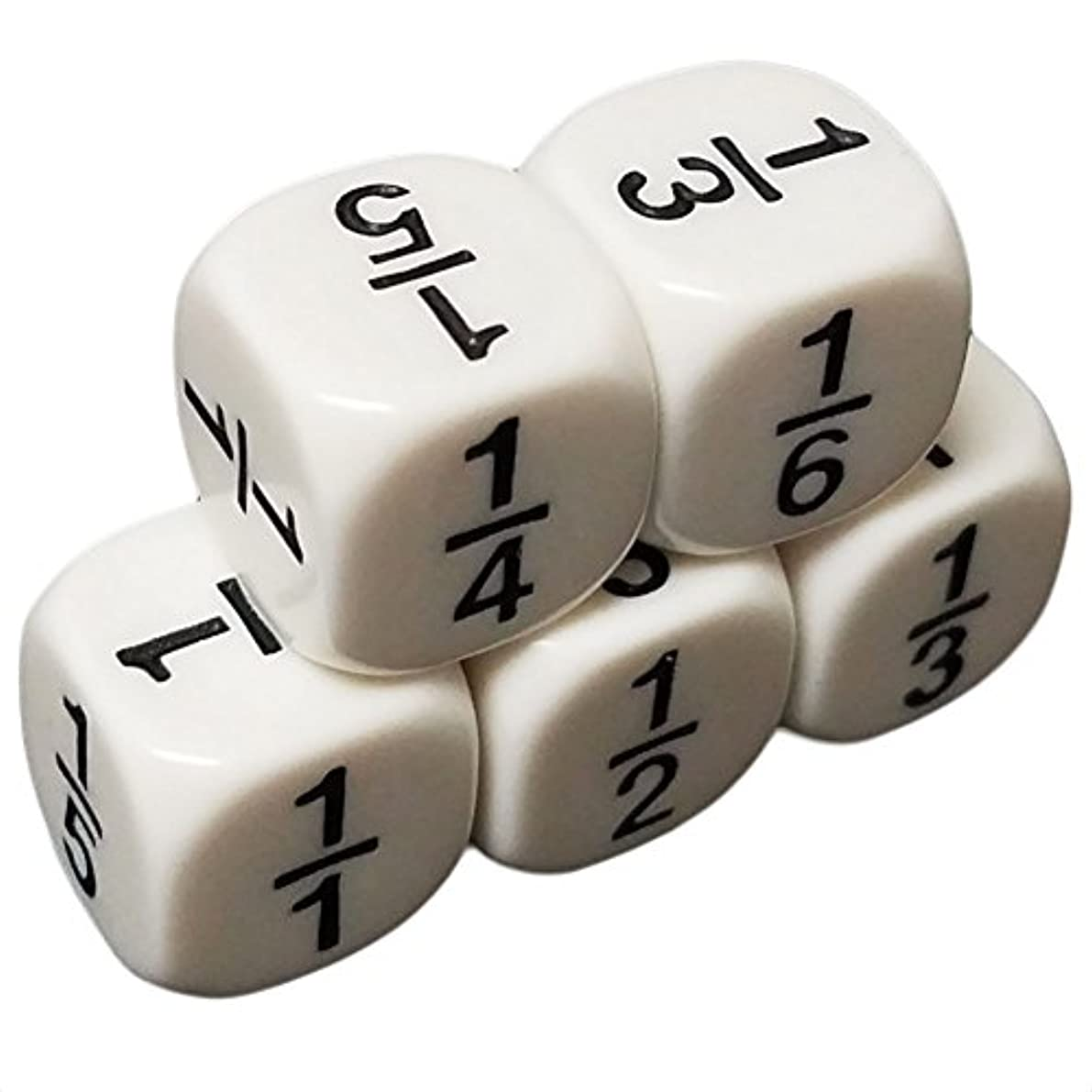 共感する泥だらけ運ぶセットof 5教育Dice 6 Sided数学分数1 / 6 Numbersホワイトで雪オーガンジーバッグ