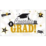 Surenhap バナー congrats grad 卒業 DIY 壁飾り パーティー 写真 道具 背景 イベント 誕生日 お祝い 二次会 盛り上げ 演出に 壁飾り 誕生日