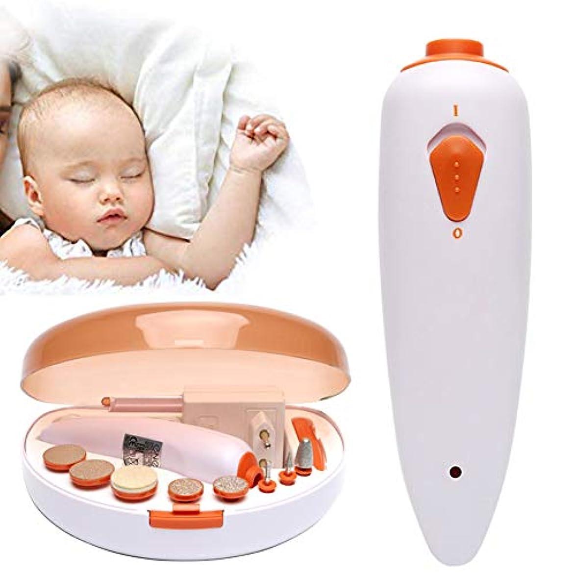 中級現実的自慢赤ちゃん マニキュア キット、 安全 電気の 赤ちゃん 爪 トリマー 爪 バリカン にとって 新生児、 赤ちゃん アダルト 研磨 ケア セット、 9 交換可能 研削 頭