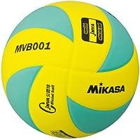 ミカサ 混合バレー試合球5号 グリーンイエロー MVB001-GY
