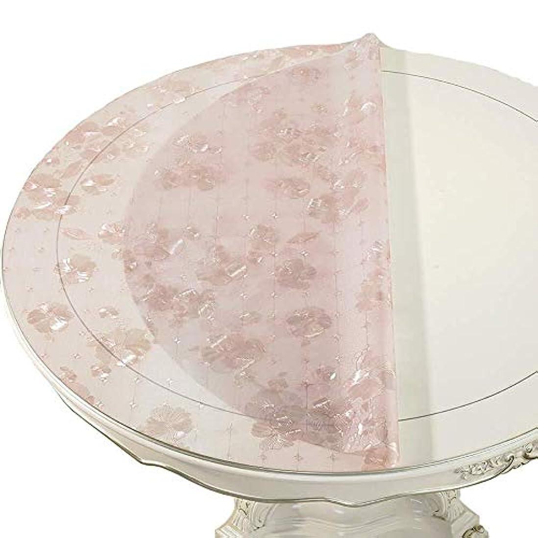 宴会子孫普遍的なクリスマス テーブル クロス PVCラウンドウェブ不透過性の抗火傷油のテストレストラン柔軟なガラステーブルマット 無臭 (Size : 135cm)