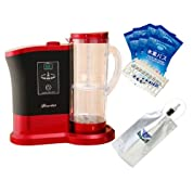 ポータブル 高濃度 水素水 製造器 Lourdes (ルルド) ワインレッド+ 水素バス & H2バッグ セット