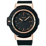 [セイコーウォッチ] 腕時計 ワイアード WW(ツーダブ) スマートウオッチ Bluetooth時刻同期 カウントアップ機能 カレンダー表記つき 日常生活用強化防水(10気圧) AGAB403 メンズ ブラック