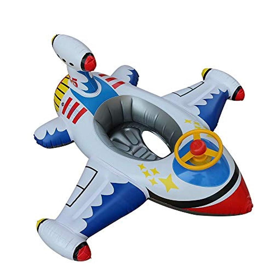 収穫袋修理可能HANBIN 1-6歳 飛行機ヨット キッズスイミングフロート 子供のおもちゃ 赤ちゃんインフレータブルスイミングリング white