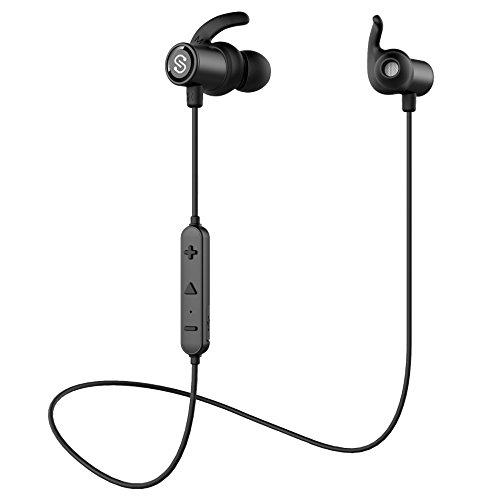 【防水進化版 IPX6対応】SoundPEATS(サウンドピーツ) Q30 Bluetooth イヤホン 高音質 [メーカー1年保証] 低音重視 8時間連続再生 apt-Xコーデック採用 人間工学設計 マグネット搭載 CVC6.0ノイズキャンセリング マイク付き ハンズフリー通話 ブルートゥース イヤホン IP7X防塵 ワイヤレス イヤホン Bluetooth ヘッドホン ブラック