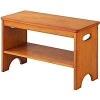 【完成品・組立不要】 玄関 ベンチ 木製 チェア 補助椅子 玄関チェア スツール 玄関収納 腰掛け ブラウン