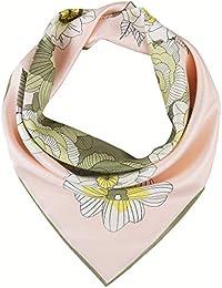 IRRANI シルクスカーフ レディース 100% シルク スカーフ 正方形 小さめ 優しい肌触り 冷房対策