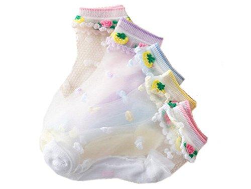 72f13356522d6 リアルスタイル Real Style 夏 ベビー 幼児用 キッズ 子供 かわいい 花柄 フットカバー シースルー