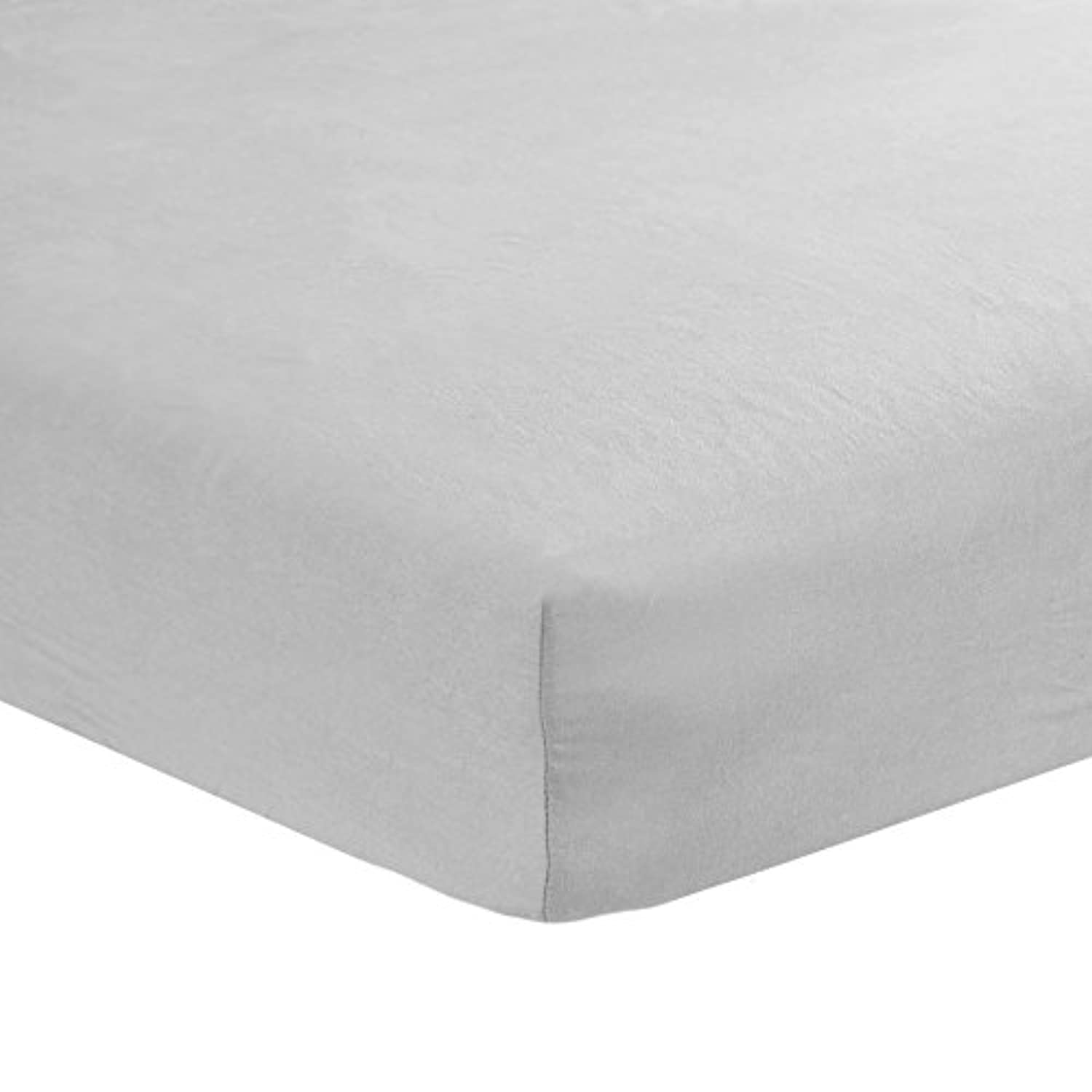Carter's Sateen Fitted Crib Sheet, Smoke Grey by Carter's