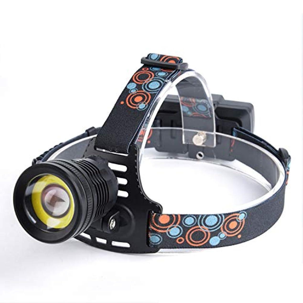 立法サミットディスコ強いヘッドライト、T6 + COB LEDヘッドライト、屋外防水照明充電夜釣りライト