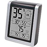 空気加湿器 室内温度および湿度モニタ - 室内温度計、デジタル湿度計、湿度ゲージインジケータ付き湿度モニタ (色 : Gray)