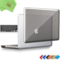 ueswill 2in1光沢クリスタルクリアSee Throughハードシェルケースとシリコンキーボードカバーfor MacBook Pro +マイクロファイバークリーニングクロス MacBook Pro 15'' (Non-Retina) UES04C15P2-03