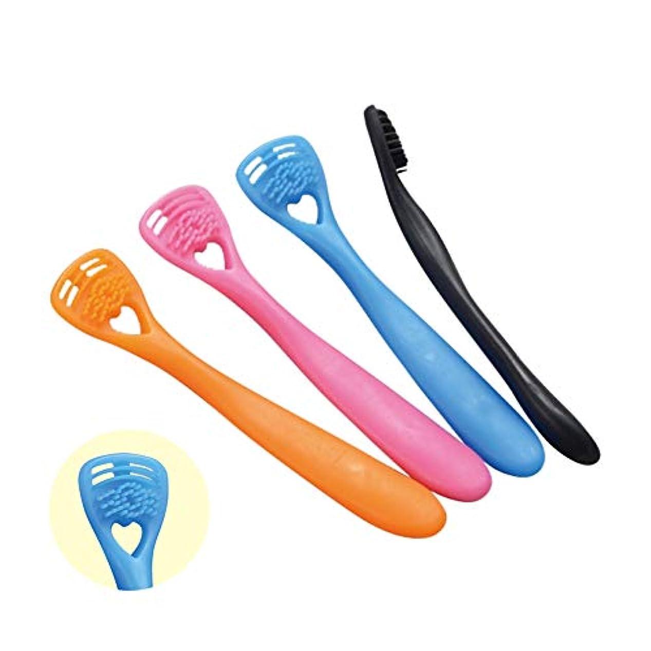 重要なグレー寝室を掃除する舌クリーナー『ゼクリンMORE(4本入色アソート)』 口臭対策は舌の清掃から