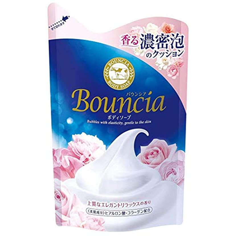 なくなる計算可能加速度【まとめ買い】 バウンシア ボディソープ エレガントリラックスの香り つめかえ用 430ml × 3個