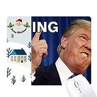 アメリカの大統領は冗談をfxxkingトランプ サンタクロース家屋ゴムのマウスパッド
