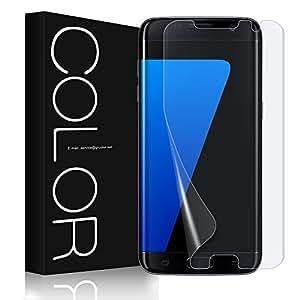 Galaxy S7 Edge フィルム全面 G-Color Galaxy S7 Edge フィルム 全面保護 ケースに干渉せず 貼り直しができる 透明ケース付き (TPU保護フィルム*1枚)
