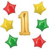 アドワン 数字 風船 バルーン 飾り付け 誕生日 ゴールド 大きい 数字1~9 文字 記念日 お祝い (1)