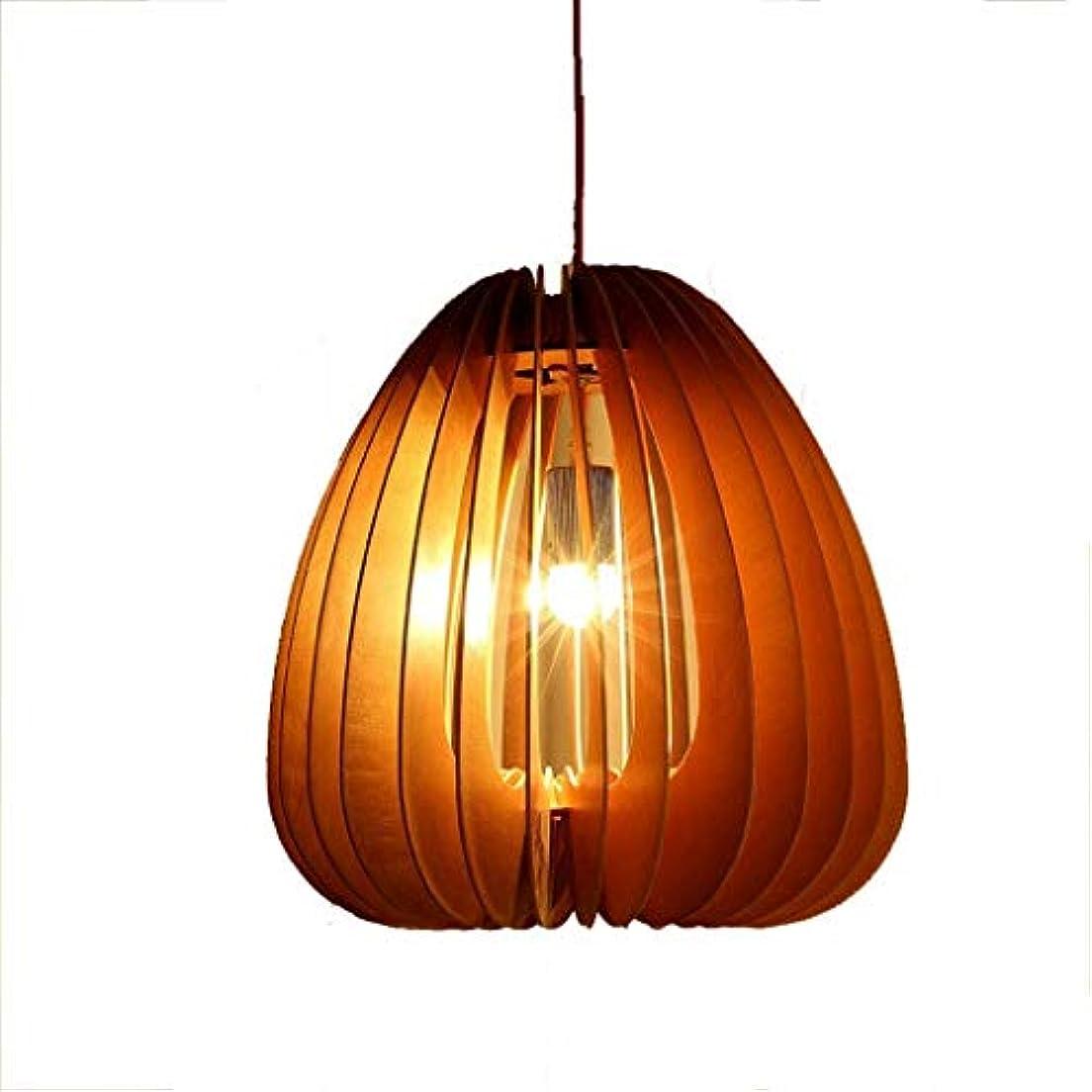 肉腫成人期冗長Lvhayon シャンデリア 現代の木製のシャンデリア、楕円形の木製のシャンデリア