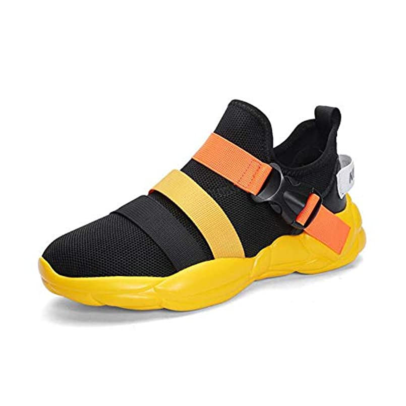 偏見式遺跡メンズ春の新しい靴、ファッション軽量メッシュスポーツカジュアル韓国メンズワイルド通気性男性ランニングシューズ,A,42