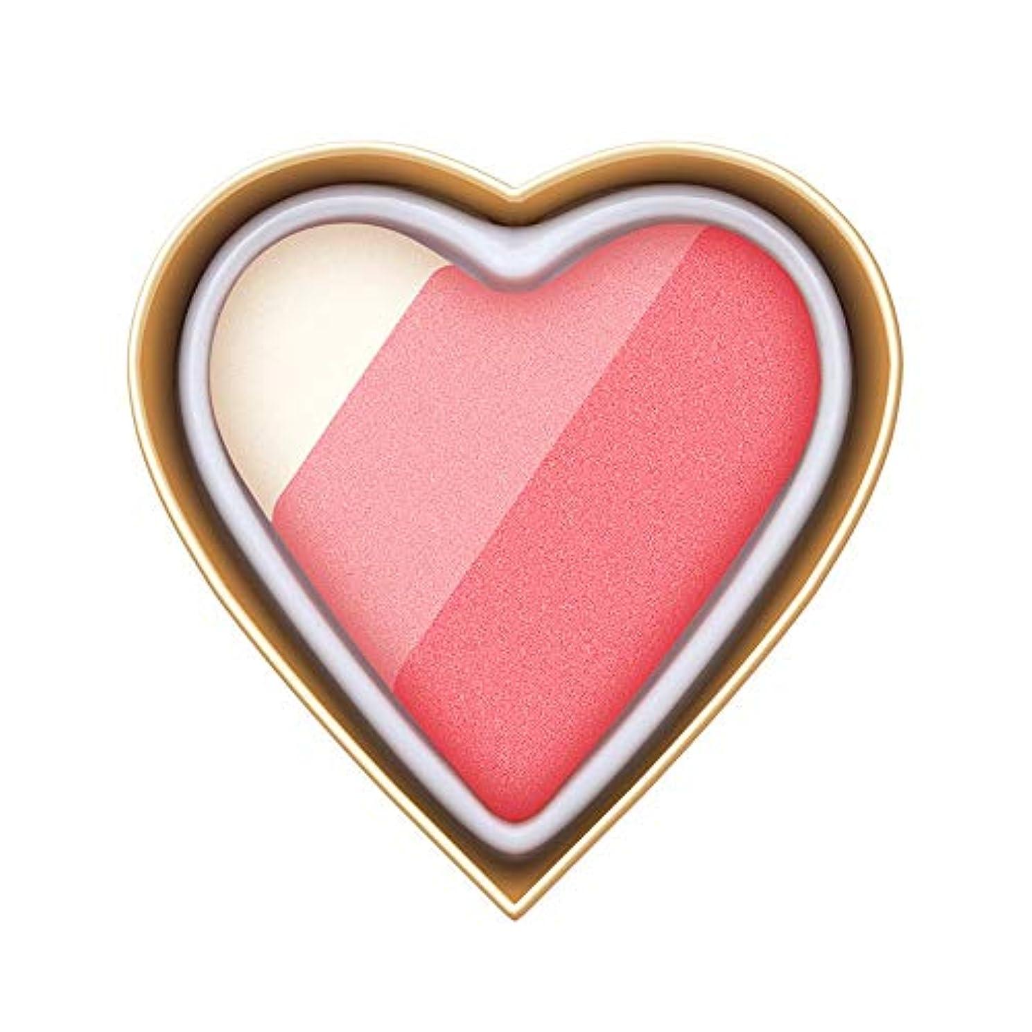 リングバックいつも欠如Florrita 女性 ハート型 アイシャドー パレット 優しい色 レインボー色 愛の少女系 ハイライトパウダー アイシャドー 発色が素晴らしい アイシャドウパレット シャドー ブラッシュ 携帯便利 プレゼント (D)