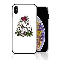 iPhone XS Max 携帯ケース 白い 白馬 ケース 最新製品 防塵 軽量 薄型 擦り傷防止 耐衝撃 全機種対応 スマホ用 ソフトケース 防塵 シリコン 人気 バンパーケース スリム設計 携帯カバー