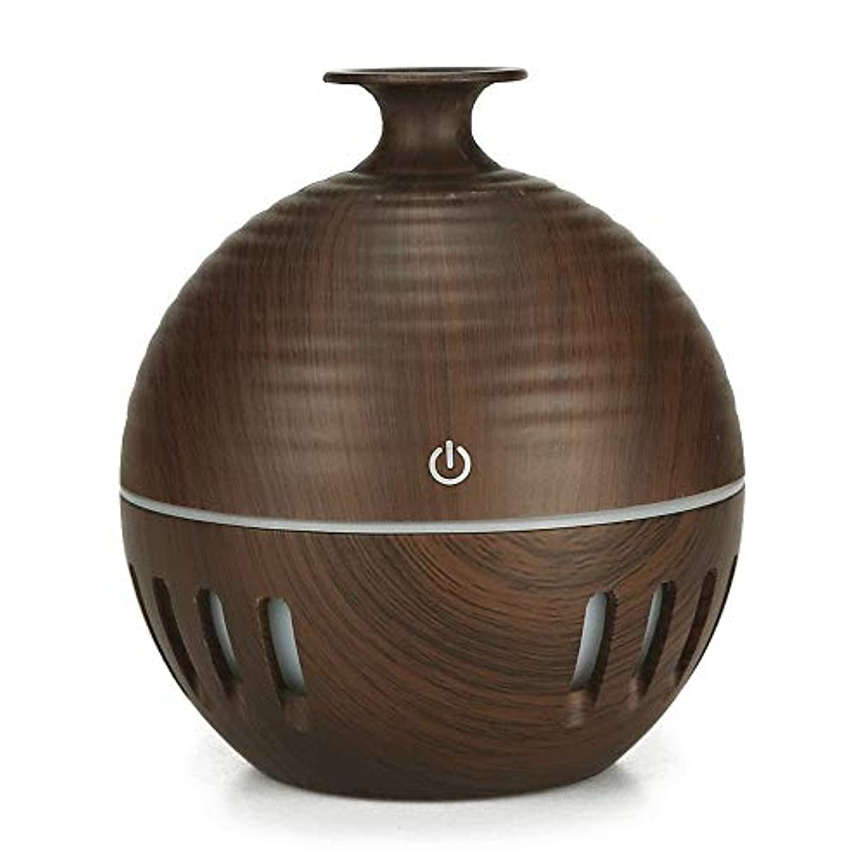 合計くぼみ挨拶ミニエッセンシャルオイルディフューザーウィスパー静かなクールミスト加湿器のためにキッズルームバスルーム利用 (Color : Deep wood grain, Size : 10×11.2)