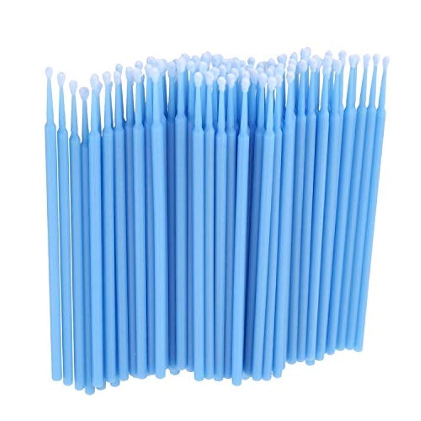 広告主緊張リズムTOOGOO 100個 歯科用マイクロブラシ 使い捨て材料 歯用アプリケーター ミディアムファイン(ライトブルー)