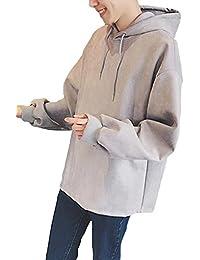 DeBangNi メンズ フードパーカー 秋 春 スウェット 長袖 無地 アウター シンプル ゆったり カジュアル 韓国風 ファッション パーカー