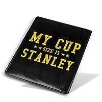 ブックカバー9x11 In My Cup Size Is Stanley ブックカバー 文庫 コンサイス 皮革調 手作り手帳 日記帳 システム手帳 アンティーク ブックカバー 詰め替えレザートラベルジャーナル執筆日記 卒業記念品